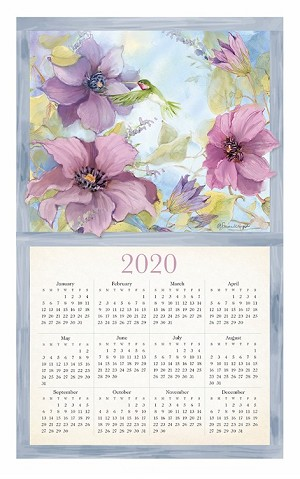 "4020949 Calendar Towel, Nature's Palette, 17.5"" x 27.5"", 2020 (Available in August, 2019)"