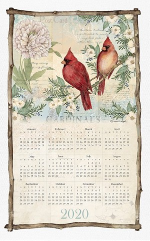 "4020956 Calendar Towel, Spring Cardinal, 17.5"" x 27.5"", 2020 (Available In August, 2019)"
