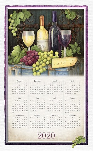 "Calendar Towel, Wine Country, 17.5"" x 27.5"", 2020"