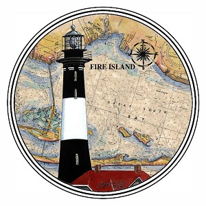 HL95 Coasterstone Coasters Fire Island NY Set of 4