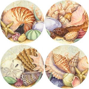 AS1725 Coasterstone Coasters Soft Shell Assortment Set of 4