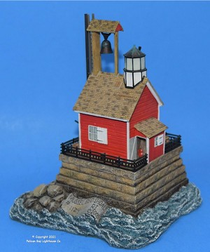 Harbour Lights Limited Edition Mussel Bed Shoal Lighthouse, Rhode Island