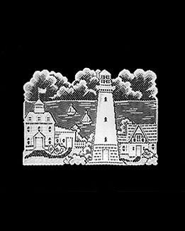 "Lighthouse Placemats14""x20"" White Set of 4 By Heritage Lace"