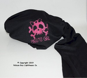 Pirate Girl Headwrap, Skull With Bow