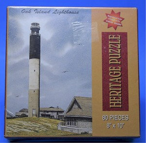 Oak Island Lighthouse Jigsaw Puzzle, 80 pc, by Heritage