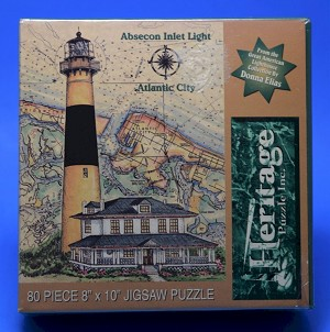 Absecon Inlet Light Jigsaw Puzzle, 80 pc, by Heritage