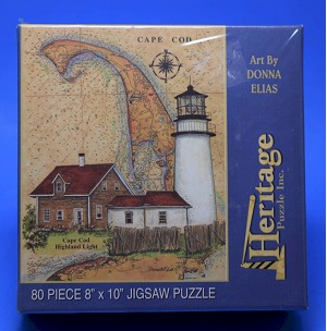 Cape Cod Highland Light Jigsaw Puzzle, 80 pc, by Heritage