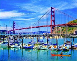 Golden Gate Bridge Jigsaw Puzzle, 1000 pc.