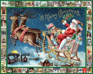 Santa's Sleigh Jigsaw Puzzle, 1000 pc., by White Mountain Puzzles