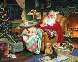 Santa's Naptime Jigsaw Puzzle, 1000 pc., by White Mountain Puzzles