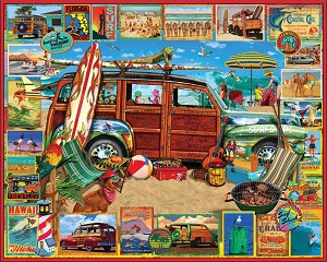 Surfin' Woody Jigsaw Puzzle, 1000 pc., by White Mountain Puzzles