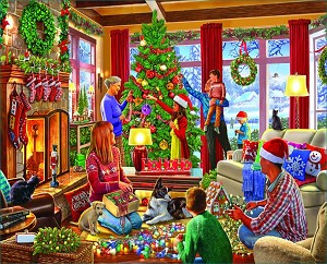 Decorating The Tree Jigsaw Puzzle, 1000 pc.