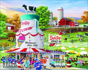 Dairy Bar Jigsaw Puzzle, 1000 pc., by White Mountain Puzzles