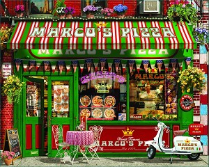 Pizza Parlor Jigsaw Puzzle, 1000 pc., by White Mountain Puzzles