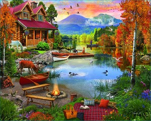 Paradise Lake Jigsaw Puzzle, 1000 pc.