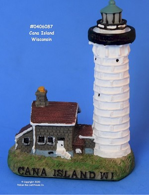Scaasis Mini Lighthouse, Cana Island, Wisconsin