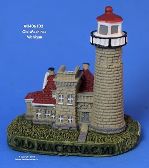 Scaasis Mini Lighthouse, Old Mackinac, Michigan