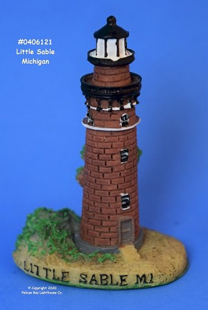 Scaasis Mini Lighthouse, Little Point Sable, Michigan