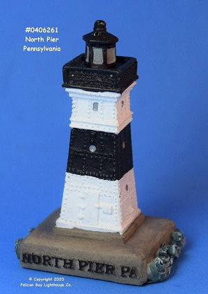 Scaasis Mini Lighthouse, North Pier, Pennsylvania