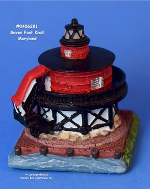Scaasis Mini Lighthouse, Seven Foot Knoll, Maryland