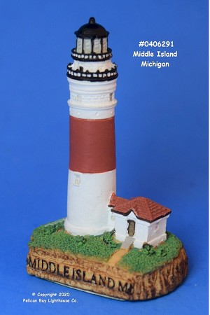 Scaasis Mini Lighthouse, Middle Island, Michigan