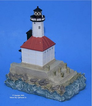 Scaasis Small Lighthouse Replica, Michigan City E. Pierhead, Indiana