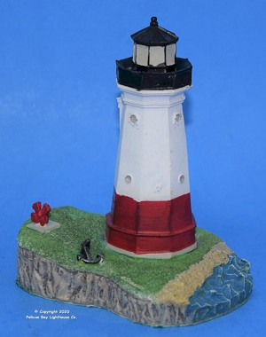 Scaasis Small Lighthouse Replica, Vermilion, Ohio